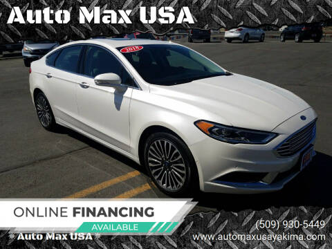 2018 Ford Fusion for sale at Auto Max USA in Yakima WA