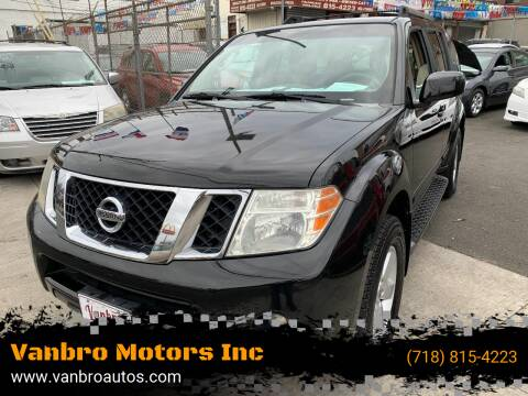 2008 Nissan Pathfinder for sale at Vanbro Motors Inc in Staten Island NY