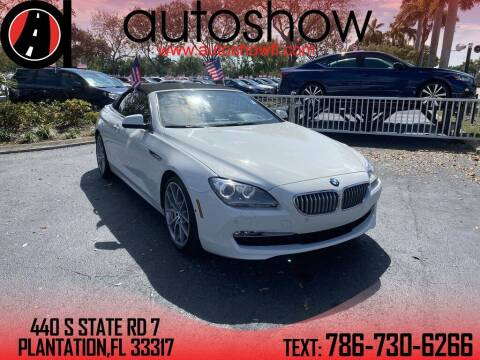 2013 BMW 6 Series for sale at AUTOSHOW SALES & SERVICE in Plantation FL
