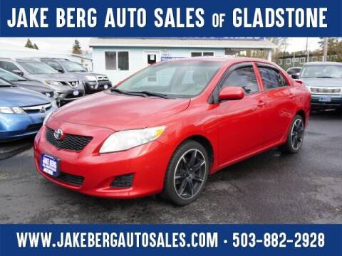 2009 Toyota Corolla for sale at Jake Berg Auto Sales in Gladstone OR
