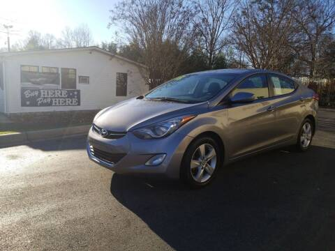 2013 Hyundai Elantra for sale at TR MOTORS in Gastonia NC