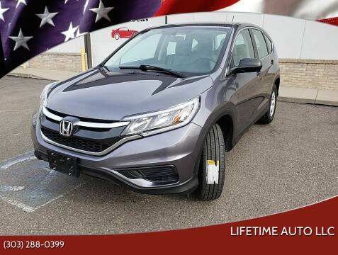 2016 Honda CR-V for sale at Lifetime Auto LLC in Commerce City CO