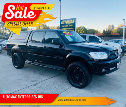 2006 Toyota Tundra for sale at AUTOMAX ENTERPRISES INC. in Roseville CA