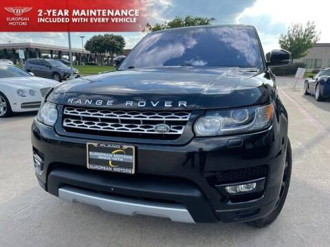 2016 Land Rover Range Rover Sport for sale at European Motors Inc in Plano TX
