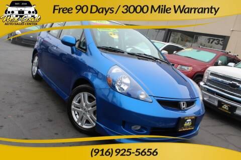 2007 Honda Fit for sale at West Coast Auto Sales Center in Sacramento CA