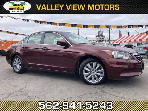 2011 Honda Accord for sale at Valley View Motors in Whittier CA