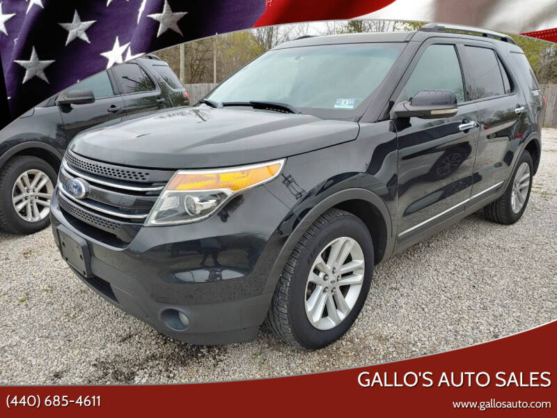 2012 Ford Explorer for sale at Gallo's Auto Sales in North Bloomfield OH