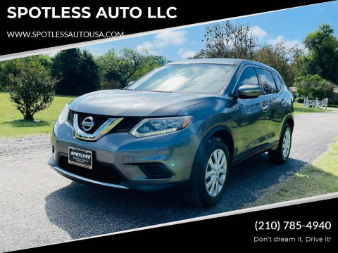 2015 Nissan Rogue for sale at SPOTLESS AUTO LLC in San Antonio TX