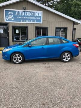 2013 Ford Focus for sale at Auto Consider Inc. in Grand Rapids MI