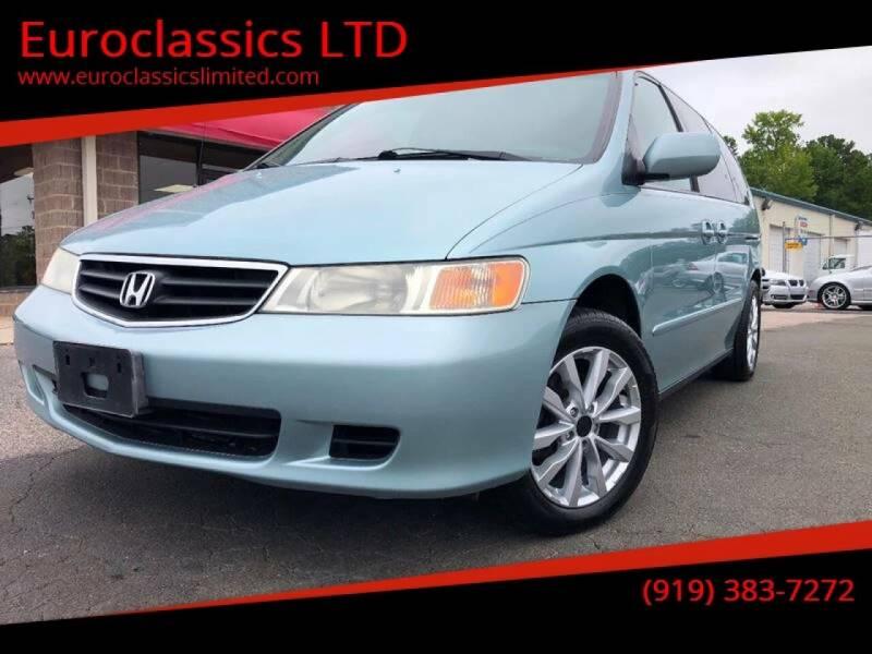2003 Honda Odyssey for sale at Euroclassics LTD in Durham NC