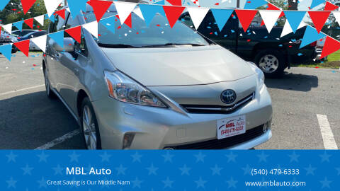 2012 Toyota Prius v for sale at MBL Auto Woodford in Woodford VA