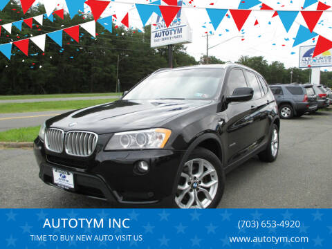 2014 BMW X3 for sale at AUTOTYM INC in Fredericksburg VA
