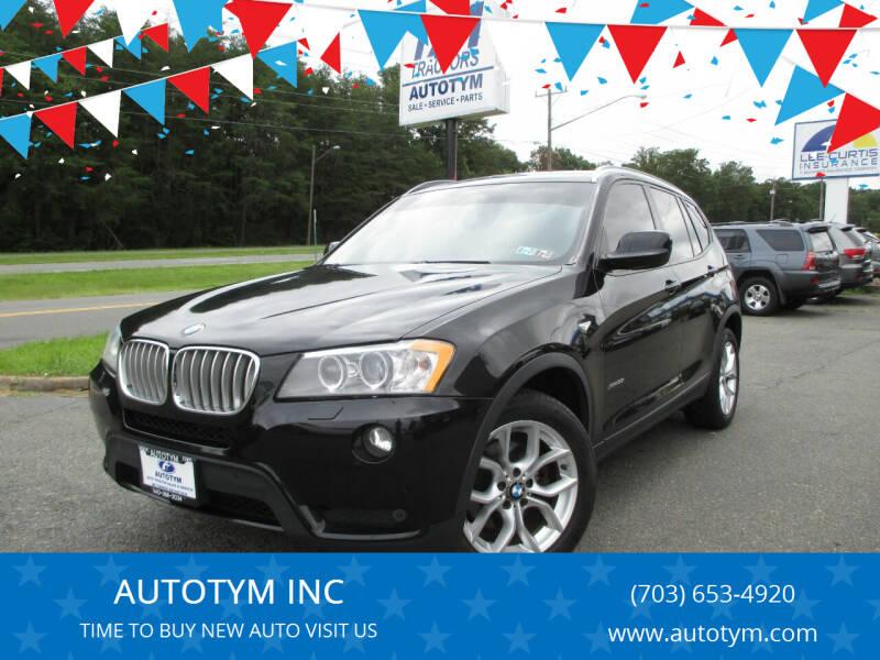 2014 BMW X3 for sale at AUTOTYM INC in Fredericksburg VA