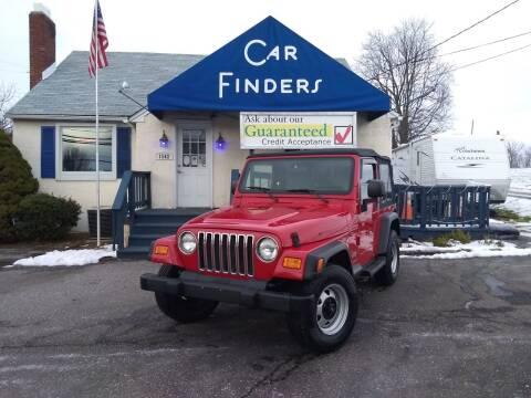 2003 Jeep Wrangler for sale at CAR FINDERS OF MARYLAND LLC in Eldersburg MD