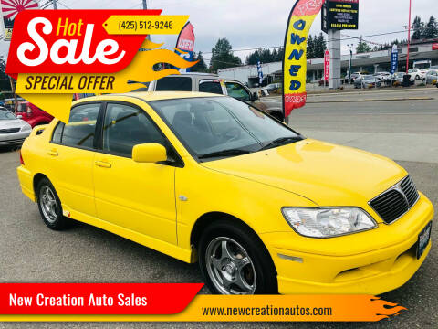 2003 Mitsubishi Lancer for sale at New Creation Auto Sales in Everett WA