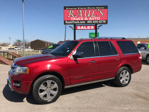 2016 Ford Expedition for sale at RAUL'S TRUCK & AUTO SALES, INC in Oklahoma City OK
