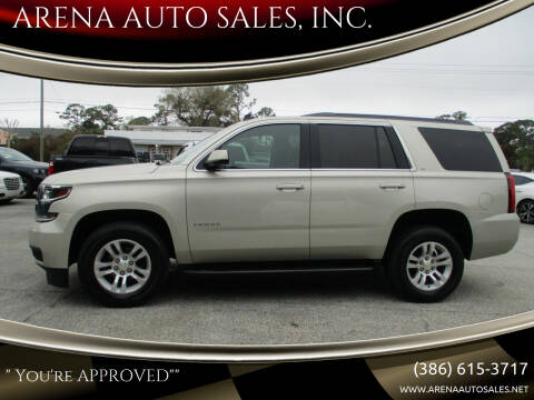 2015 Chevrolet Tahoe for sale at ARENA AUTO SALES,  INC. in Holly Hill FL