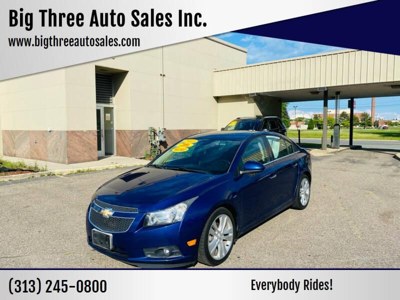 2013 Chevrolet Cruze for sale at Big Three Auto Sales Inc. in Detroit MI