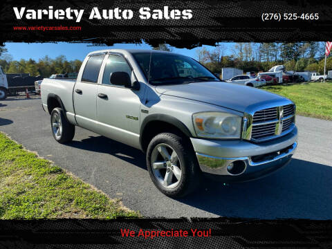 2008 Dodge Ram Pickup 1500 for sale at Variety Auto Sales in Abingdon VA
