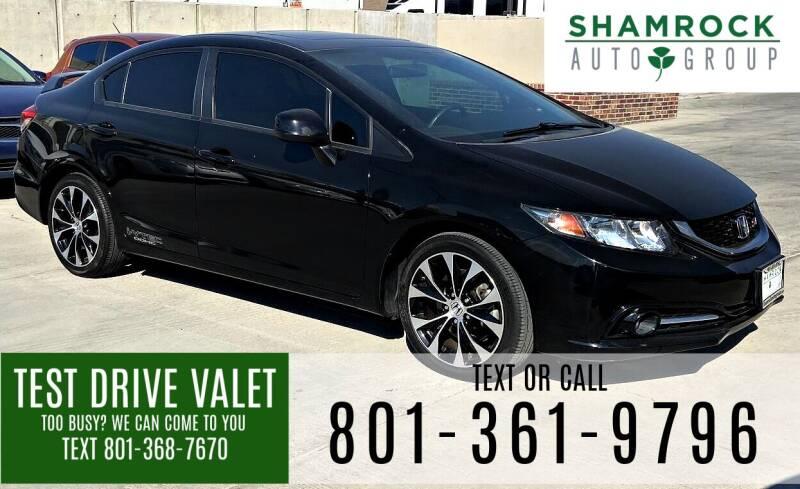 2013 Honda Civic for sale at Shamrock Group LLC #1 in Pleasant Grove UT