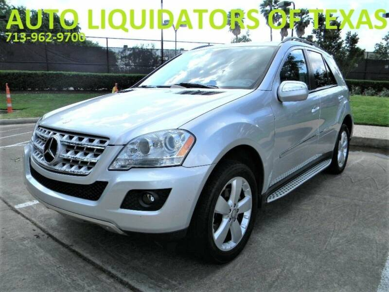 2009 Mercedes-Benz M-Class for sale at AUTO LIQUIDATORS OF TEXAS in Richmond TX