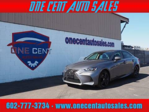 2017 Lexus IS 200t for sale at One Cent Auto Sales in Glendale AZ