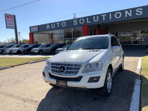 2009 Mercedes-Benz M-Class for sale at Auto Solutions in Warr Acres OK