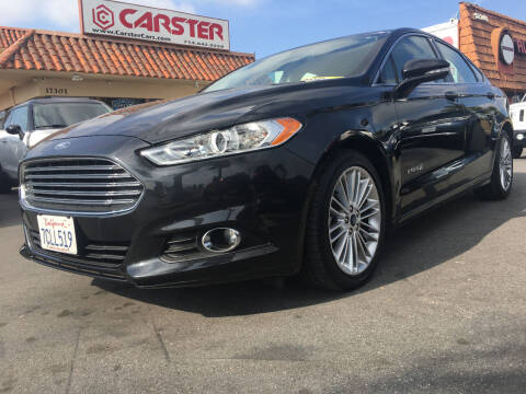 2014 Ford Fusion Hybrid for sale at CARSTER in Huntington Beach CA