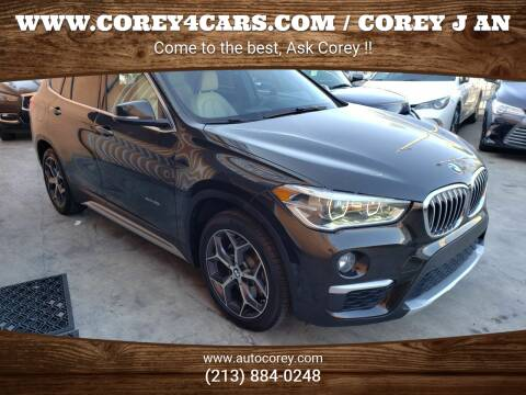 2016 BMW X1 for sale at WWW.COREY4CARS.COM / COREY J AN in Los Angeles CA