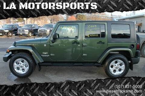 2009 Jeep Wrangler Unlimited for sale at LA MOTORSPORTS in Windom MN