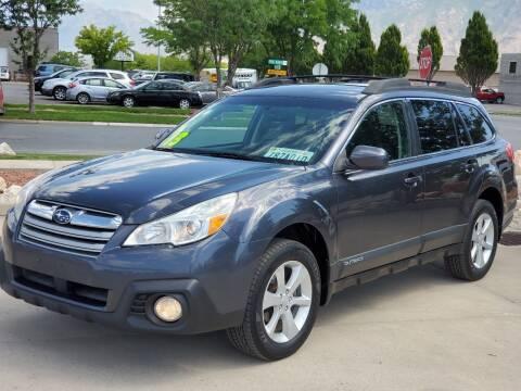 2013 Subaru Outback for sale at FRESH TREAD AUTO LLC in Springville UT
