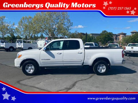 2006 Toyota Tundra for sale at Greenbergs Quality Motors in Napa CA