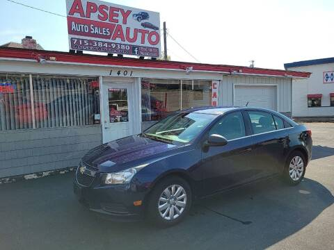 2011 Chevrolet Cruze for sale at Apsey Auto in Marshfield WI