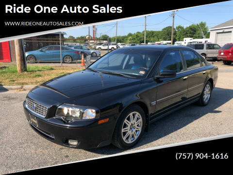 2005 Volvo S80 for sale at Ride One Auto Sales in Norfolk VA