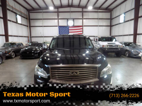 2014 Infiniti QX80 for sale at Texas Motor Sport in Houston TX