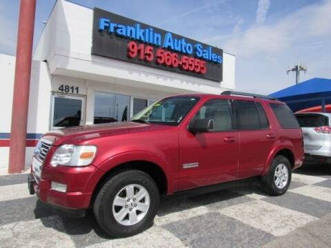 2008 Ford Explorer for sale at Franklin Auto Sales in El Paso TX