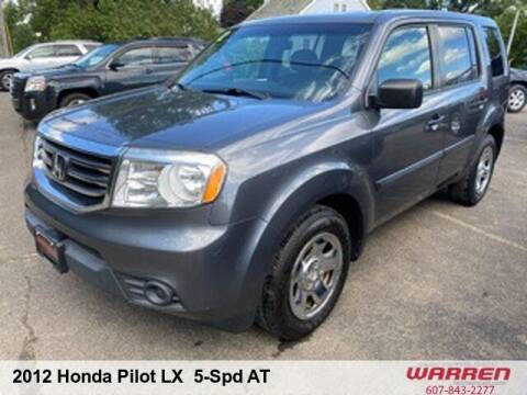 2012 Honda Pilot for sale at Warren Auto Sales in Oxford NY