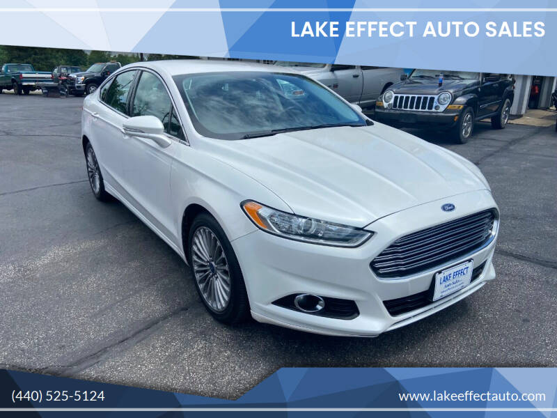 2013 Ford Fusion for sale at Lake Effect Auto Sales in Chardon OH