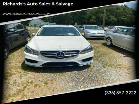 2015 Mercedes-Benz E-Class for sale at Richards's Auto Sales & Salvage in Denton NC
