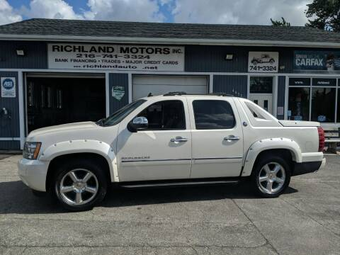 2013 Chevrolet Avalanche for sale at Richland Motors in Cleveland OH