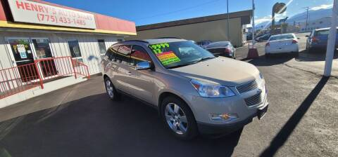 2012 Chevrolet Traverse for sale at Henry's Autosales, LLC in Reno NV