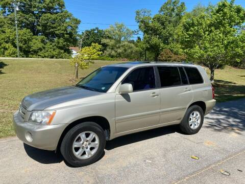 2002 Toyota Highlander for sale at Front Porch Motors Inc. in Conyers GA