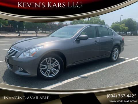 2013 Infiniti G37 Sedan for sale at Kevin's Kars LLC in Richmond VA