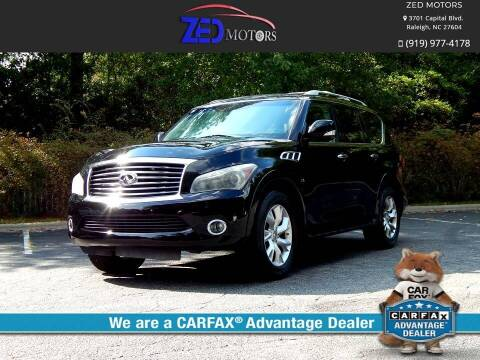 2014 Infiniti QX80 for sale at Zed Motors in Raleigh NC