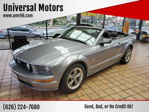 2006 Ford Mustang for sale at Universal Motors in Glendora CA