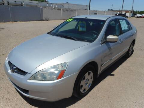 2005 Honda Accord for sale at AUGE'S SALES AND SERVICE in Belen NM