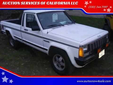 1988 Jeep Comanche for sale at AUCTION SERVICES OF CALIFORNIA in El Dorado CA