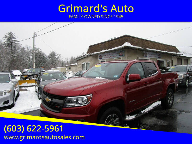 2016 Chevrolet Colorado for sale at Grimard's Auto in Hooksett, NH