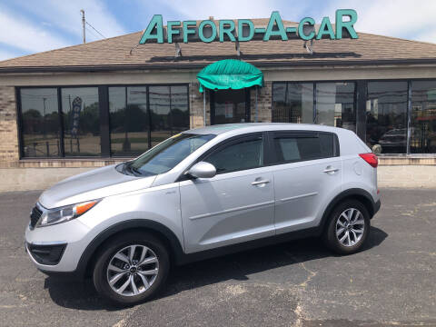 2015 Kia Sportage for sale at Afford-A-Car in Moraine OH