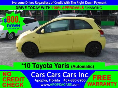 2010 Toyota Yaris for sale at CARS CARS CARS INC in Apopka FL